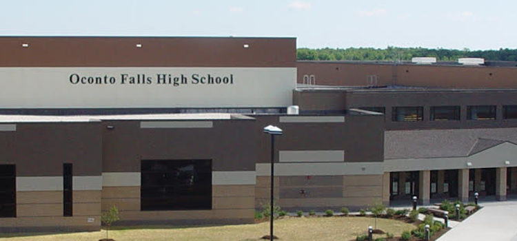 View of Oconto Falls High School
